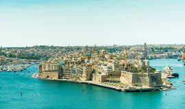 Panoramic view on Valletta Royalty Free Stock Photography