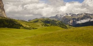Panoramic view of the valley Royalty Free Stock Images