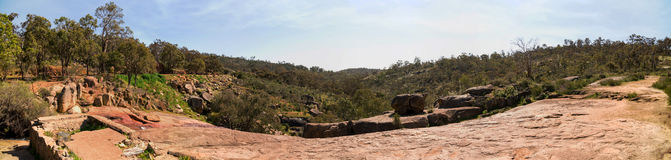 A panoramic view of the valley from top of National Park falls a Royalty Free Stock Photos