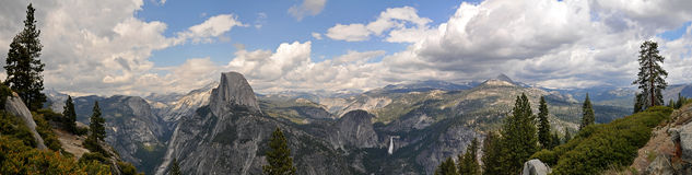 Panoramic View of THe Valley of Yosemite Royalty Free Stock Photo