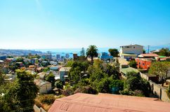 Panoramic view of Valparaiso Stock Images