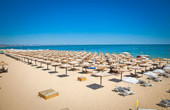 Panoramic view on Varna beach  in Bulgaria. Royalty Free Stock Photography