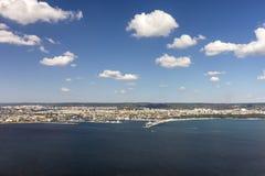 Panoramic view at Varna Town royalty free stock photos