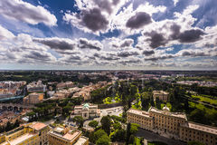 Panoramic view of the vatican city, Rome Royalty Free Stock Photos