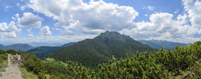Panoramic view on Velky Rozsutec Stock Image
