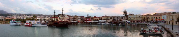 Panoramic view of the Venetian port Stock Images