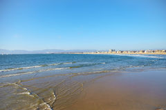 Panoramic view of the Venice Beach CA Royalty Free Stock Photos