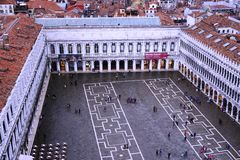 Panoramic view of Venice from the Campanile on Piazza San Marco Royalty Free Stock Photo