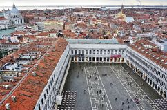 Panoramic view of Venice from the Campanile on Piazza San Marco Stock Photography