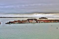 Panoramic view of Venice from the Campanile on Piazza San Marco Royalty Free Stock Image