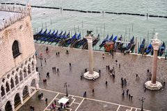 Panoramic view of Venice from the Campanile on Piazza San Marco Royalty Free Stock Images