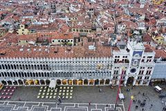 Panoramic view of Venice from the Campanile on Piazza San Marco Stock Images