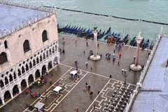 Panoramic view of Venice from the Campanile on Piazza San Marco Royalty Free Stock Photos