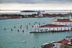 Panoramic view of Venice from the Campanile on Piazza San Marco Stock Photos