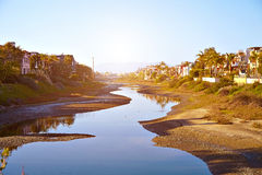 Panoramic view of the Venice Canals Stock Photography