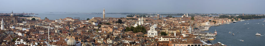 Panoramic view of venice Italy Stock Images