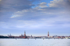Panoramic view of Venice in Italy Royalty Free Stock Images