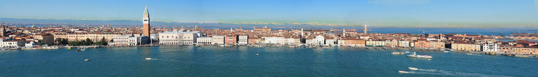 Panoramic view of Venice from San Giorgio tower Stock Images