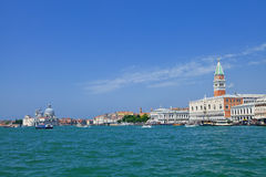 Panoramic view of Venice from the sea Stock Images