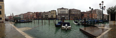 Panoramic view of Venice skin Stock Photography