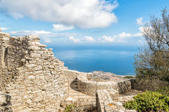 Panoramic view from Venus Castle of Erice, Italy Royalty Free Stock Image