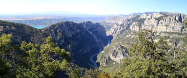 Panoramic view of Verdon gorges Stock Images