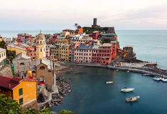 Panoramic view of  Vernazza - italy Stock Photo