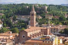 Panoramic view of Verona city Stock Photos