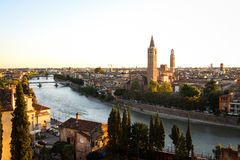 Panoramic View of Verona, Italy Stock Images