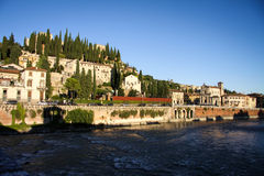 Panoramic View of Verona, Italy Stock Photo