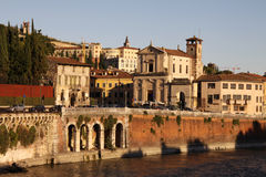 Panoramic View of Verona, Italy Royalty Free Stock Photos
