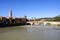 Panoramic View of Verona, Italy Stock Image