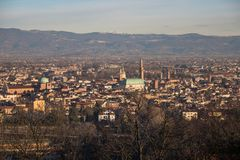 Panoramic view of vicenza and the basilica Palladiana royalty free stock photos