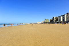 Panoramic view of Victoria Beach, Costa de la Luz, Cadiz, Andalusia, Spain Stock Photo