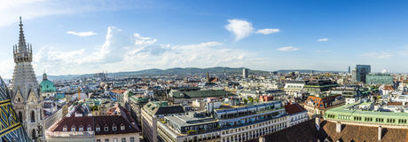 Panoramic view of Vienna Stock Photography