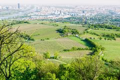 Panoramic view of Vienna city Stock Images