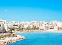 Panoramic view of Vieste Royalty Free Stock Photos