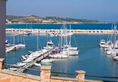Panoramic view of Vieste. Puglia. Italy. Stock Photography