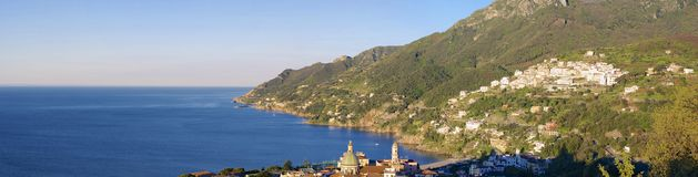Panoramic view of Amalfi Coast Royalty Free Stock Photos