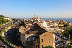 Panoramic view of Vietri sul Mare, the first town on the Amalfi royalty free stock photography