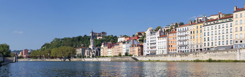 Panoramic View of Vieux Lyon Royalty Free Stock Photography