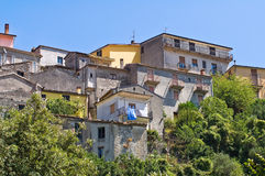 Panoramic view of Viggianello. Basilicata. Italy. Stock Image