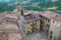 Panoramic view of Vigoleno. Emilia-Romagna. Italy. Royalty Free Stock Photo