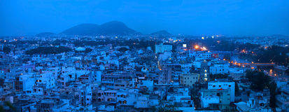 Panoramic view of Vijayawada city Stock Photos