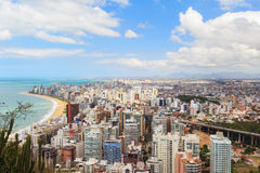 Panoramic view of Vila Velha, beach Praia da costa, Espirito San Stock Image
