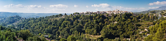 Panoramic view of a village in the Alpes-Maritimes Royalty Free Stock Image