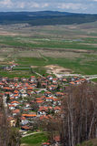 Panoramic view of village Belchin,  Sofia Province Royalty Free Stock Photo