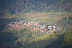 Panoramic view of the village of northern Thailand Stock Image