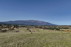 Panoramic view of villages Plana in the mountain Plana by Vitosha Royalty Free Stock Photography
