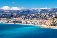 Panoramic view of Villefranche-sur-Mer, Nice, French Riviera. Stock Photography